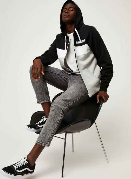 Vêtements Lacoste Sweatshirt Hoodie Zip ML Croco Noir vue bas / vue portée sac