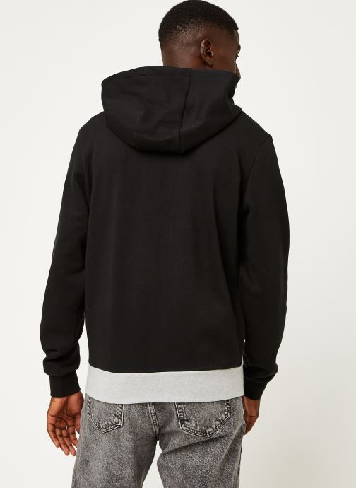 Vêtements Lacoste Sweatshirt Hoodie Zip ML Croco Noir vue portées chaussures