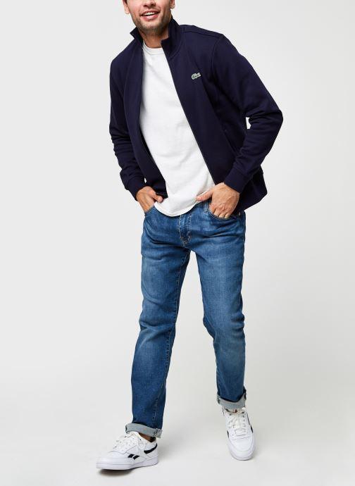 Vêtements Lacoste Sweatshirt Full Zip ML Croco Bleu vue bas / vue portée sac