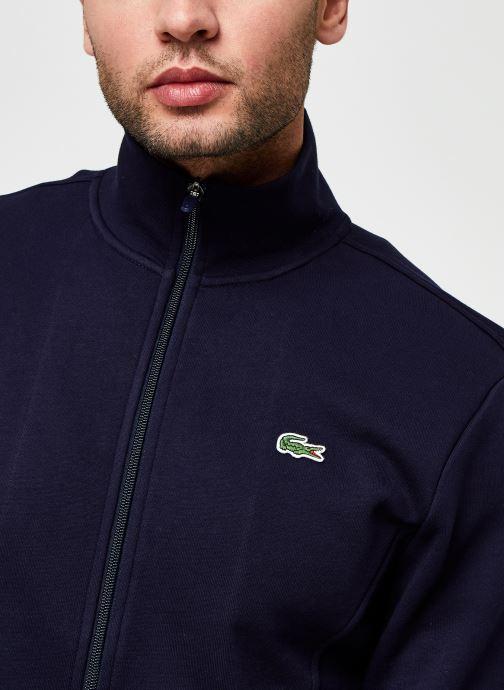 Vêtements Lacoste Sweatshirt Full Zip ML Croco Bleu vue face
