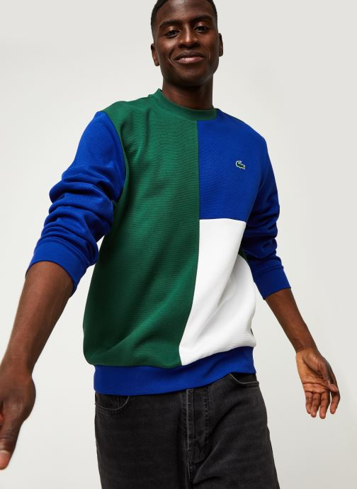 Vêtements Lacoste Sweatshirt Geo Croco Vert vue détail/paire