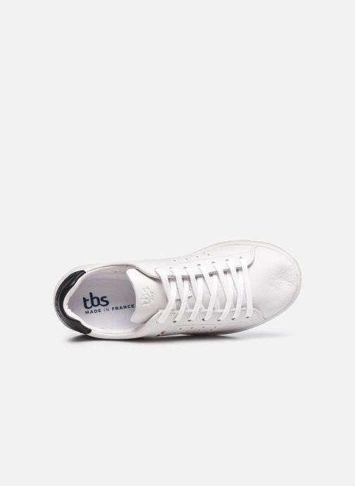 Sneaker TBS Made in France Algreen weiß ansicht von links