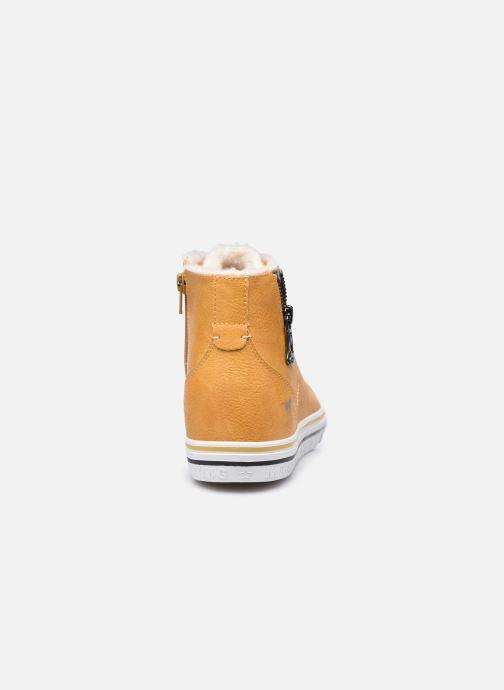 Baskets Mustang shoes 5056604 Jaune vue droite