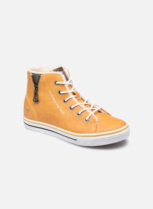 Baskets Mustang shoes 5056604 Jaune vue détail/paire