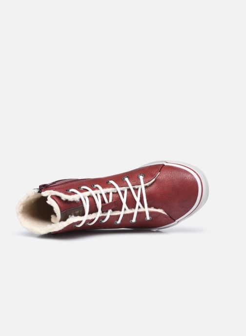 Sneakers Mustang shoes 5056604 Bordò immagine sinistra