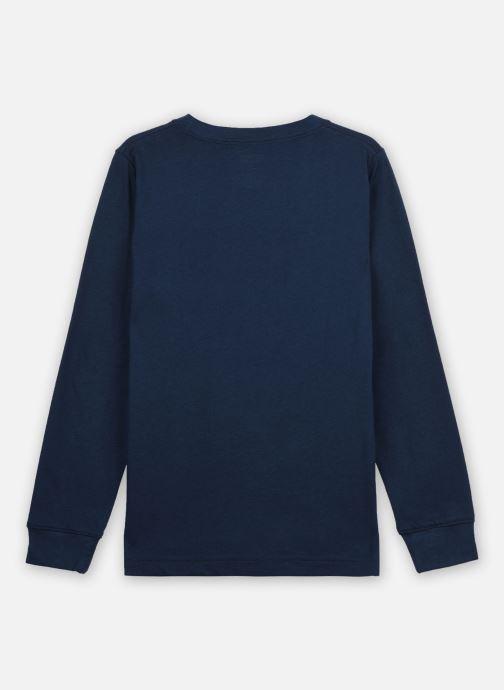 Vêtements Levi's BATWING TEE LS Bleu vue portées chaussures