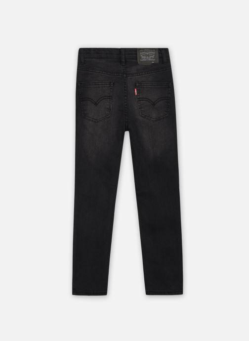 Vêtements Levi's 512 SLIM TAPER Noir vue portées chaussures