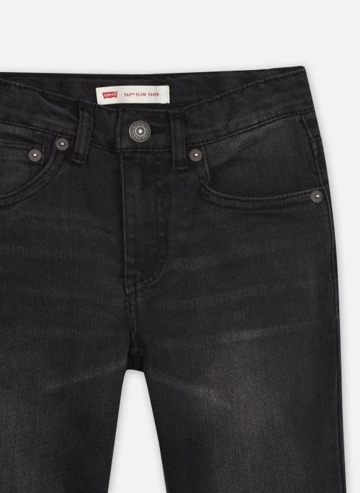 Vêtements Levi's 512 SLIM TAPER Noir vue face
