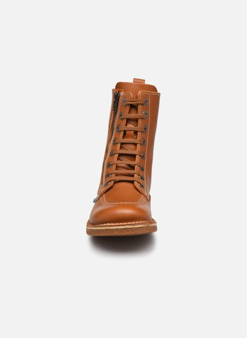 Stiefeletten & Boots Kickers MEETICKZIP braun schuhe getragen