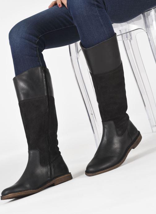 Stiefel Kickers TINTABO schwarz ansicht von unten / tasche getragen