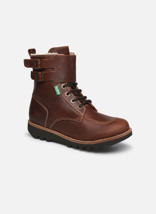 Bottines et boots Kickers NEOMEENELY Marron vue détail/paire