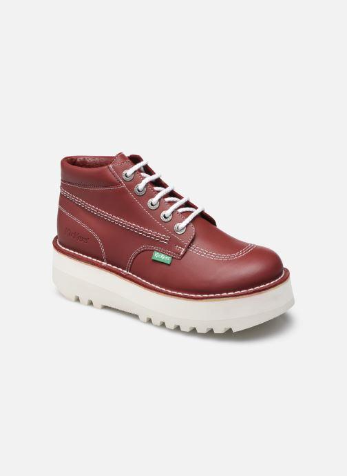 Stiefeletten & Boots Kickers KICKPLATFORM rot detaillierte ansicht/modell