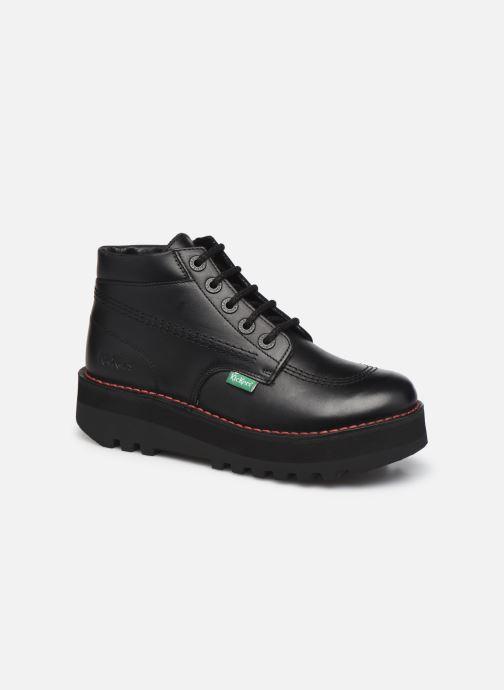 Bottines et boots Kickers KICKPLATFORM Noir vue détail/paire