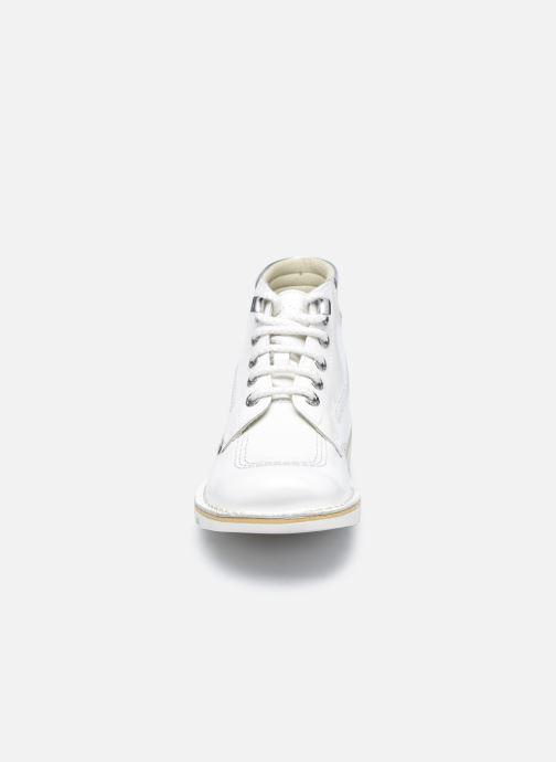 Bottines et boots Kickers KICK THROWBACK Blanc vue portées chaussures
