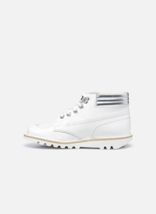 Bottines et boots Kickers KICK THROWBACK Blanc vue face