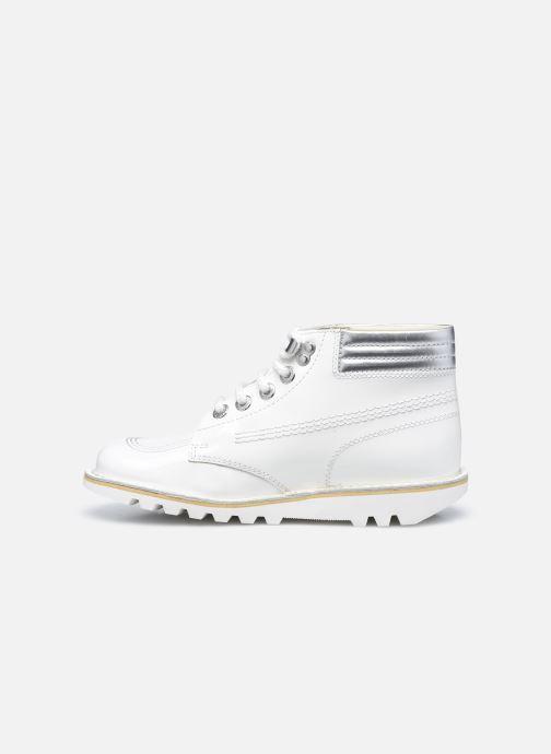 Stiefeletten & Boots Kickers KICK THROWBACK weiß ansicht von vorne