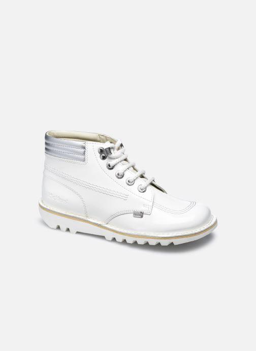 Bottines et boots Kickers KICK THROWBACK Blanc vue détail/paire
