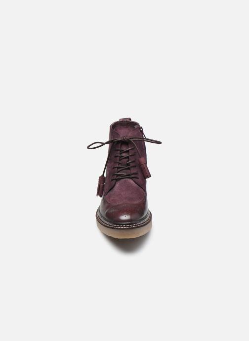Stiefeletten & Boots Kickers OXANYHIGH weinrot schuhe getragen
