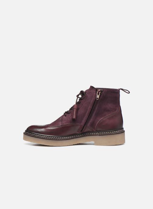 Stiefeletten & Boots Kickers OXANYHIGH weinrot ansicht von vorne