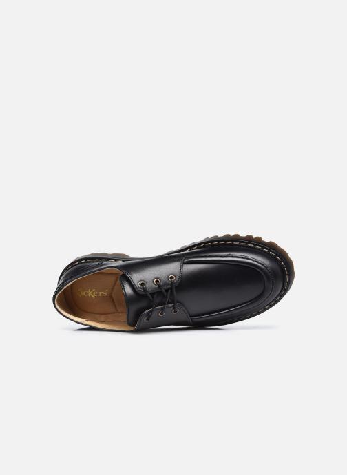 Zapatos con cordones Kickers DECKLOW Negro vista lateral izquierda