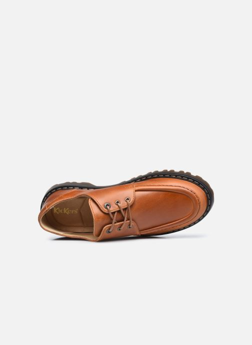 Zapatos con cordones Kickers DECKLOW Marrón vista lateral izquierda