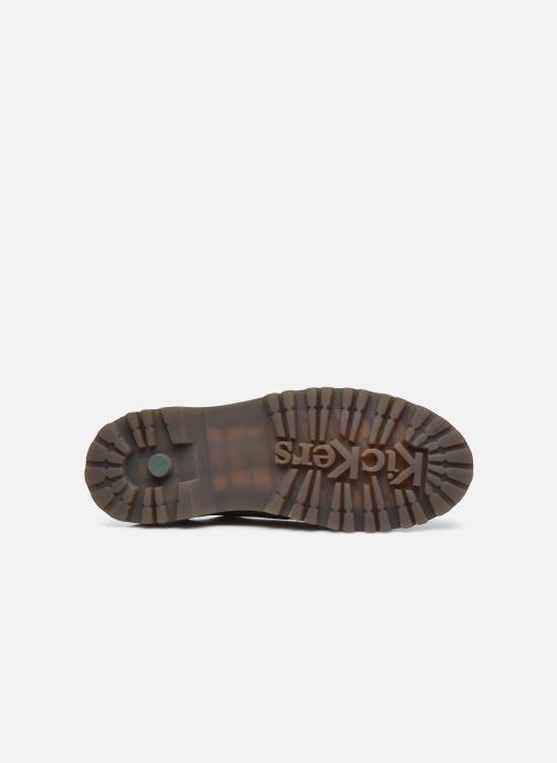 Zapatos con cordones Kickers DECKLOW Marrón vista de arriba