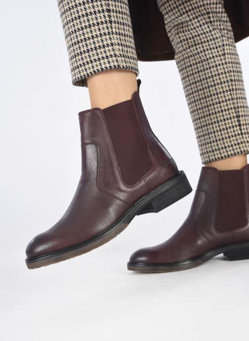 Bottines et boots Kickers ALPHASEA Bordeaux vue bas / vue portée sac