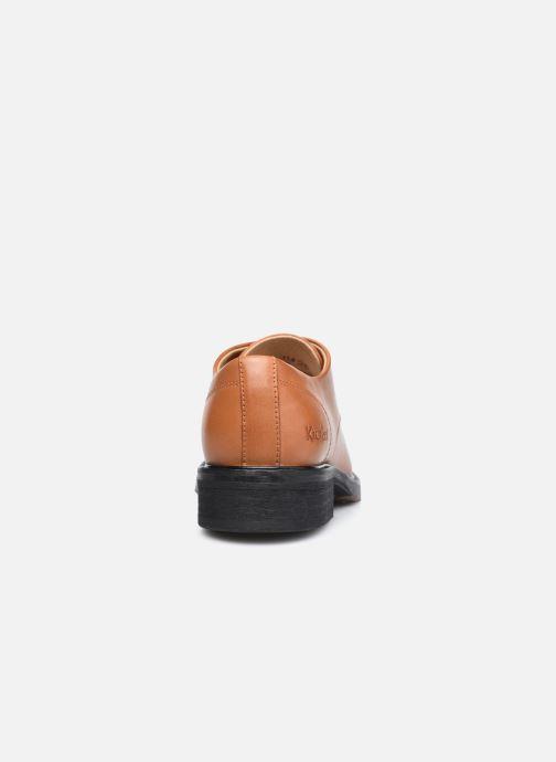 Zapatos con cordones Kickers ALPHADERB Marrón vista lateral derecha