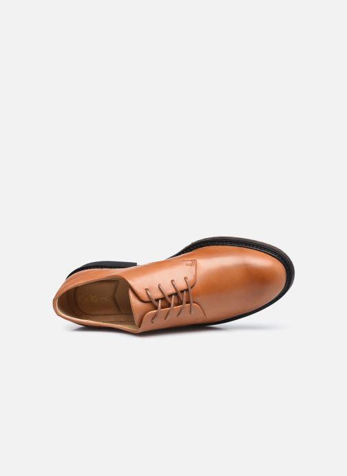 Zapatos con cordones Kickers ALPHADERB Marrón vista lateral izquierda