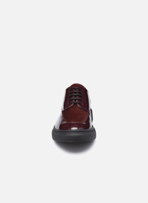 Chaussures à lacets Kickers ORIGAMANIA Bordeaux vue portées chaussures