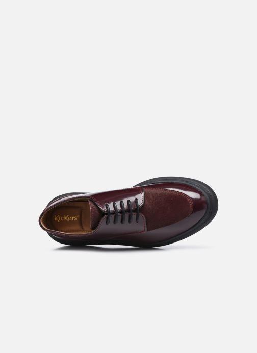 Chaussures à lacets Kickers ORIGAMANIA Bordeaux vue gauche