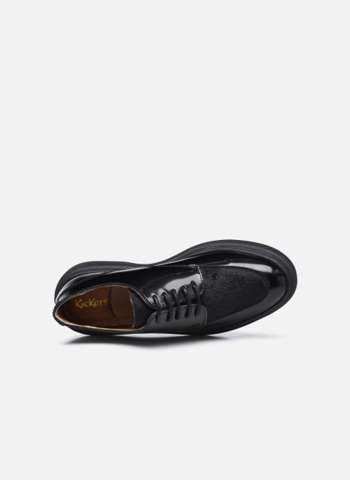 Zapatos con cordones Kickers ORIGAMANIA Negro vista lateral izquierda