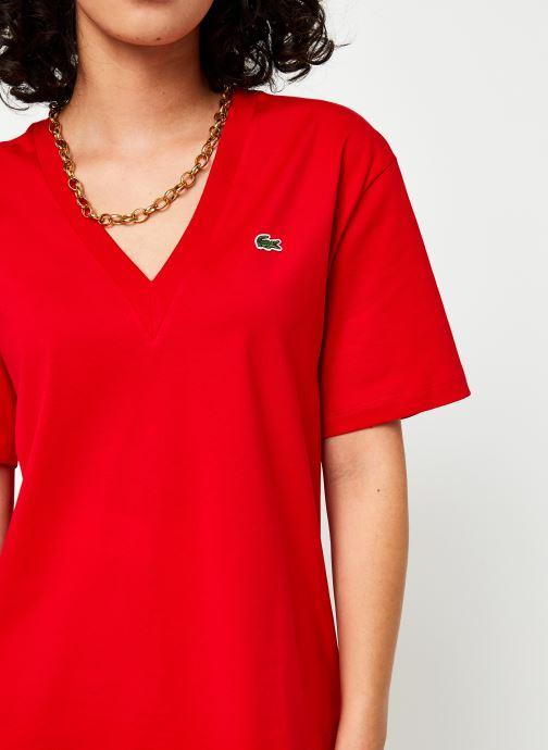 Tøj Lacoste TF5458 Rød se forfra