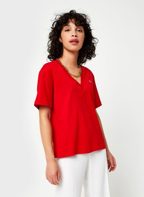 Tøj Lacoste TF5458 Rød Se fra højre