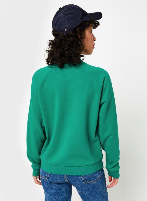 Vêtements Lacoste Sweatshirt SF5640 Vert vue portées chaussures
