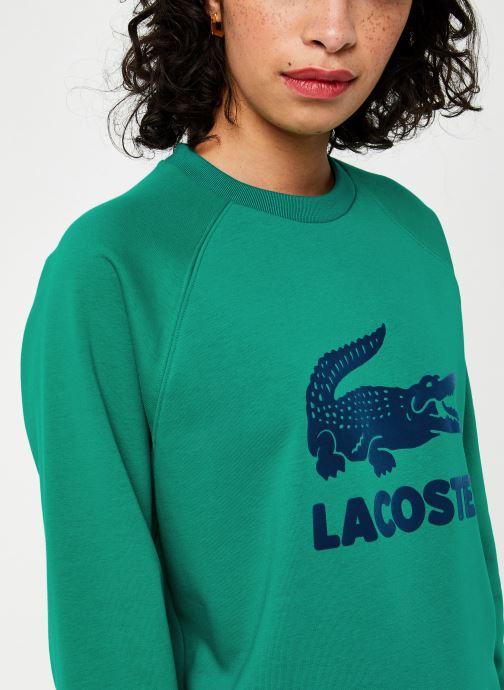 Vêtements Lacoste Sweatshirt SF5640 Vert vue face