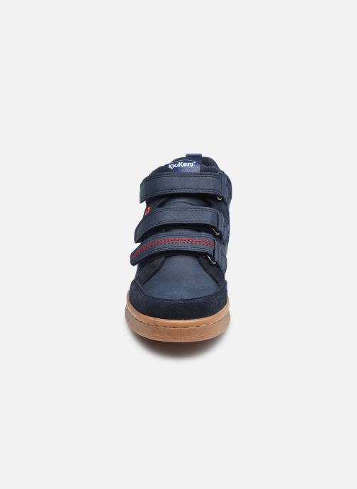 Baskets Kickers Bilbon Velc Bleu vue portées chaussures