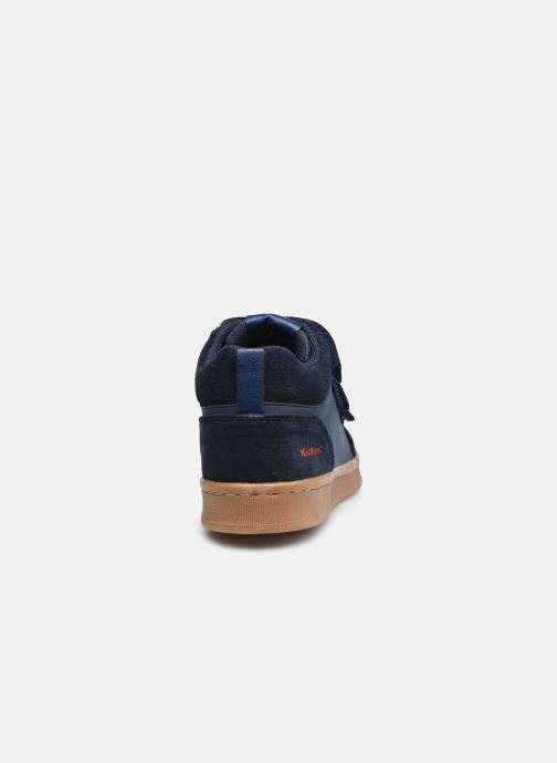 Baskets Kickers Bilbon Velc Bleu vue droite