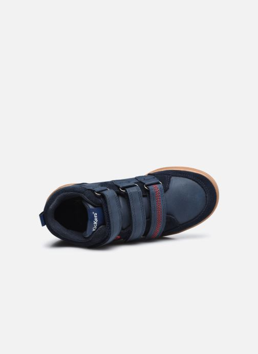Baskets Kickers Bilbon Velc Bleu vue gauche