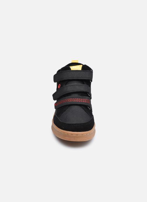 Baskets Kickers Bilbon Velc Noir vue portées chaussures
