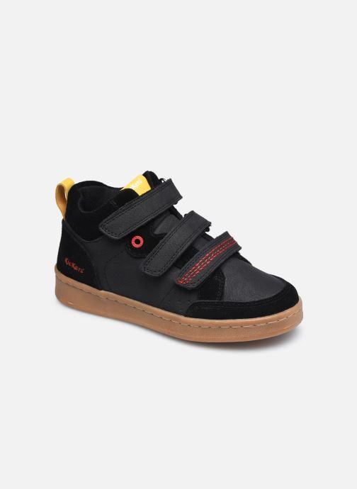 Baskets Kickers Bilbon Velc Noir vue détail/paire
