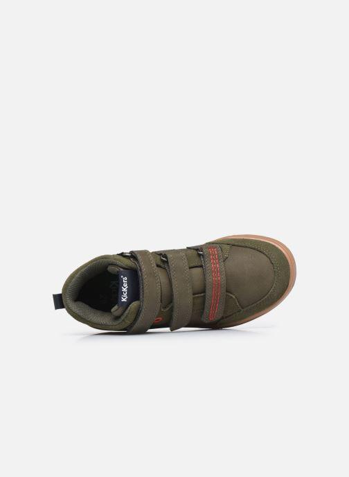 Sneaker Kickers Bilbon Velc grün ansicht von links