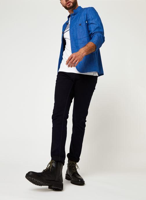 Vêtements Scotch & Soda Ams Blauw Indigo Blazer Bleu vue bas / vue portée sac