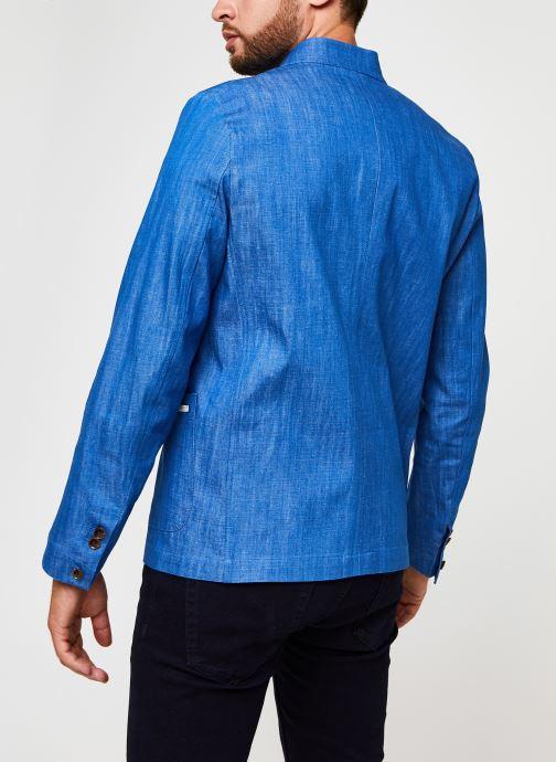 Vêtements Scotch & Soda Ams Blauw Indigo Blazer Bleu vue portées chaussures
