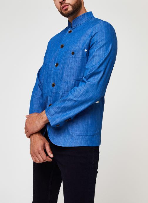 Vêtements Scotch & Soda Ams Blauw Indigo Blazer Bleu vue droite