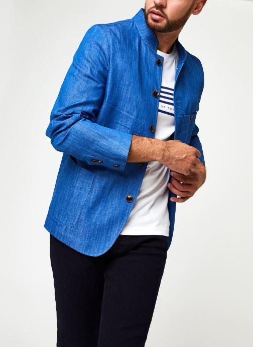 Vêtements Scotch & Soda Ams Blauw Indigo Blazer Bleu vue détail/paire