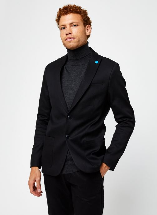 Vêtements Scotch & Soda Ams Blauw Indigo Blazer Noir vue droite