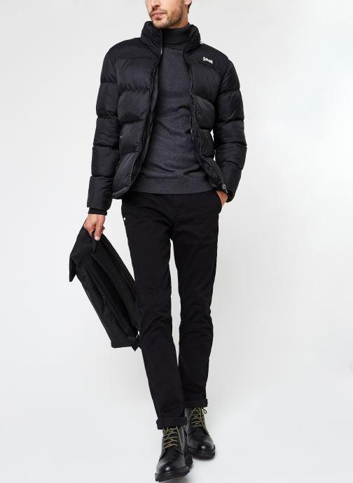 Vêtements Scotch & Soda Stuart Peached Twill Chino With Give Away Belt Noir vue bas / vue portée sac