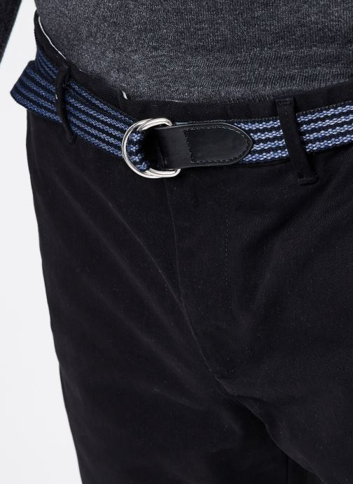 Vêtements Scotch & Soda Stuart Peached Twill Chino With Give Away Belt Noir vue face