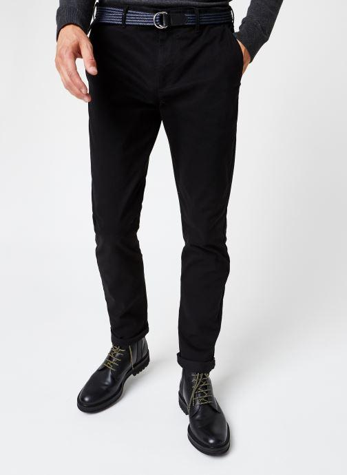 Vêtements Scotch & Soda Stuart Peached Twill Chino With Give Away Belt Noir vue détail/paire